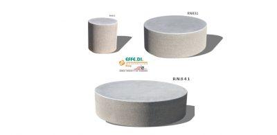 Elementi circolari realizzati in cemento