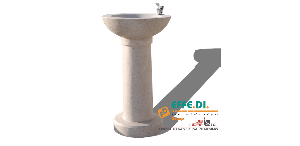 Fontana FSE in cemento bianco finto travertino CA103
