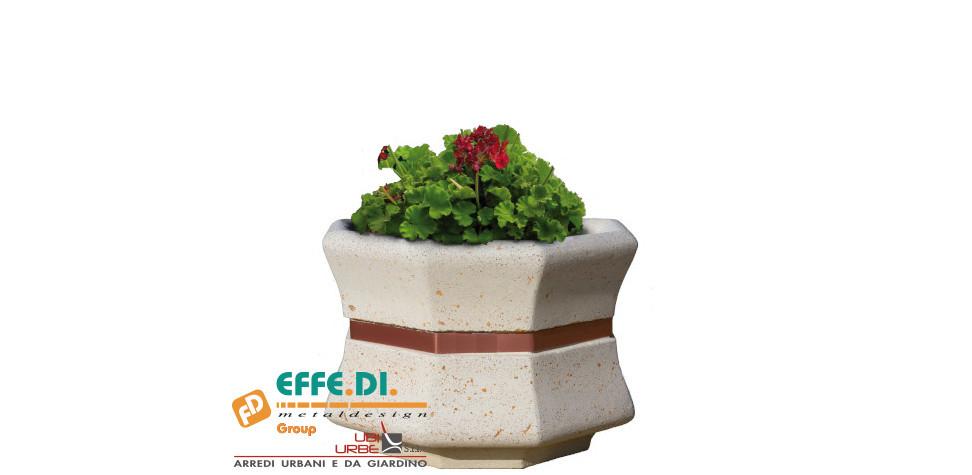 Fioriera in cemento ottagonale 3/4 Etere