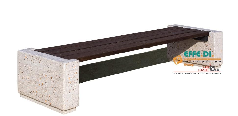 Panchina con seduta in legno Iris PA228