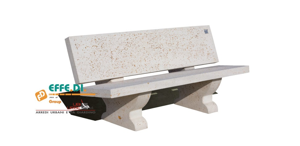Panchina per arredo urbano con schienale Maxi PS128