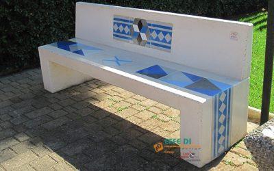 Panchine decorate con cementine locali vari modelli