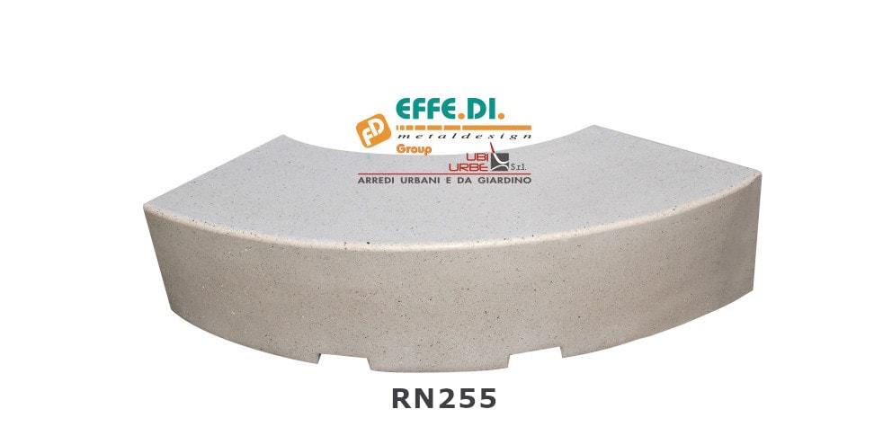 Panchina curva modello ORIONE cod. art. RN255
