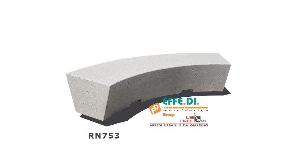 Panchina curva modello ORIONE cod. art. RN753
