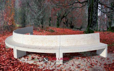Panchine in cemento circolari da composizione Modus