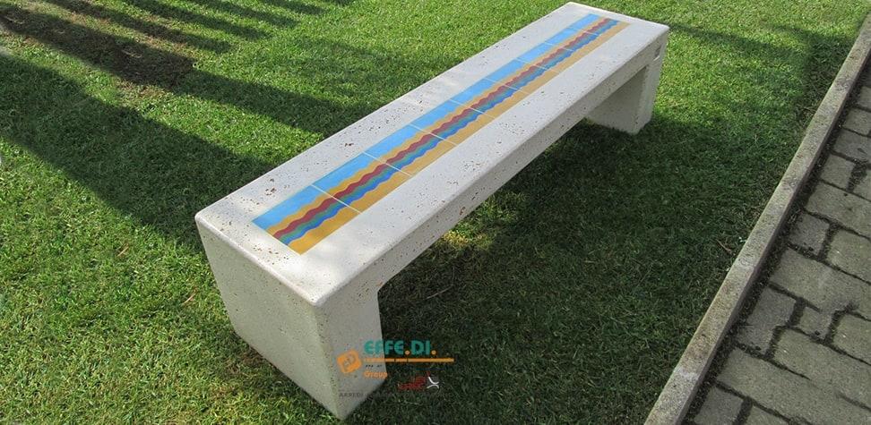 Panchina monoblocco senza schienale CAPRI PA503