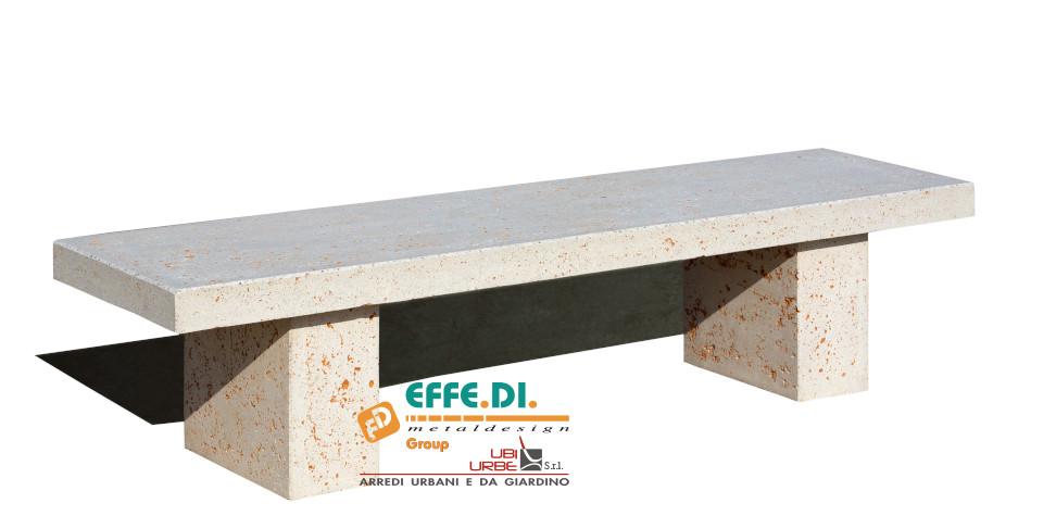 Panchina Dritta in cemento senza schienale