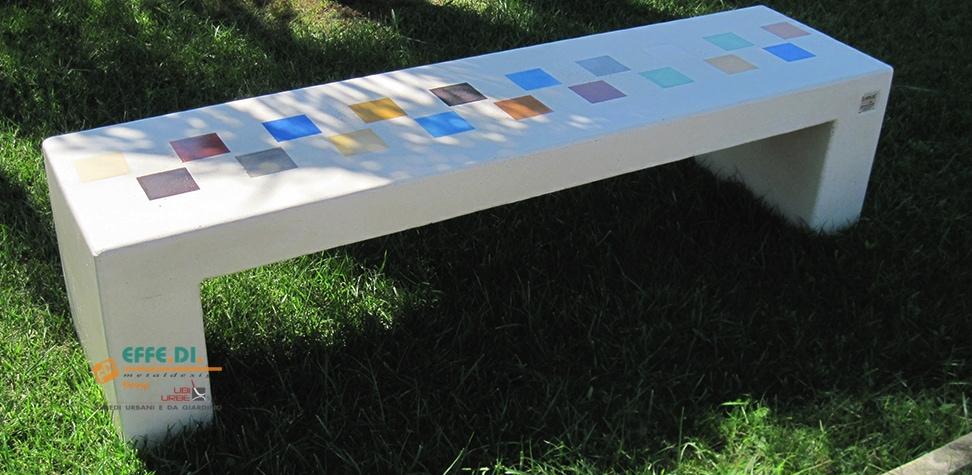 panchina monoblocco senza schienale arcobaleno pa553