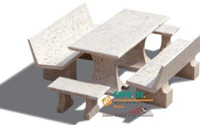 Tavoli in cemento per esterni e giardini Picnic e Galapic