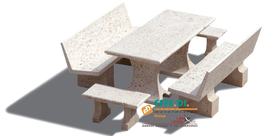 Tavoli Da Giardino In Cemento.Tavoli In Cemento Per Esterni Piazze E Giardini